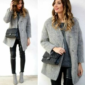 Zara Collarless Coat